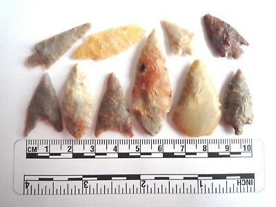 Neolithic Arrowheads x 10, High Quality Selection of Styles - 4000BC - (2456)