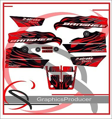 Yamaha Banshee Decals 2007 Red Model Full Set Graphics & Front Hood Sticker