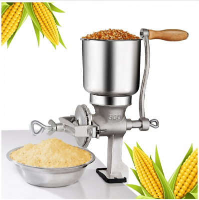 New 500# Manual Corn Wheat Grinder with Big Hopper Home Commercial Free Shipping