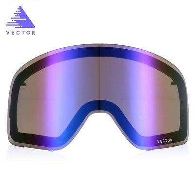 UV400 Protection Double-layer Anti-fog Original Replacement Lens for Ski Goggles