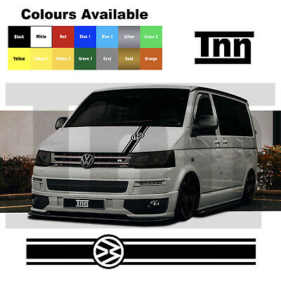 VW Volkswagen Transporter T4 T5 T6 Camper Bonnet Van Stripes Stickers Decal