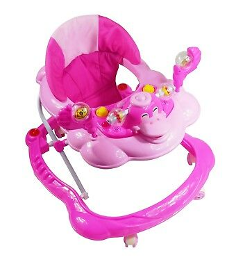 Baby Walker Pink First Steps Push Along Bouncer Activity Music Ride On Car  New