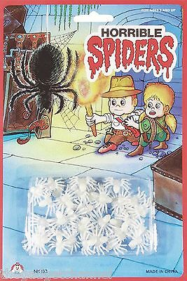 25 Glow In The Dark Fake Pretend Spiders Boys Childrens Joke Christmas Toy Gift