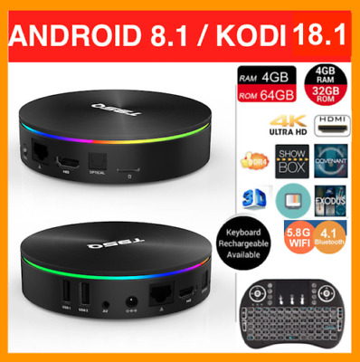 2019 SEPTEMBER Version Android Smart TV Box T95Q 4K HD WiFi Quad-Core 4G+64G