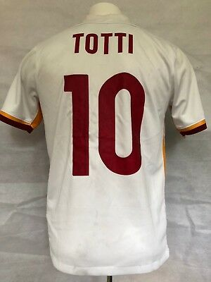 AS Roma Football Shirt 2015-16 Away Totti #10 (Excellent) M Soccer Jersey Top