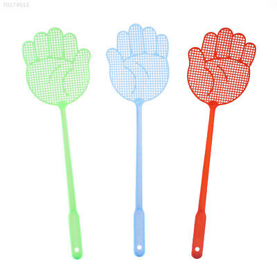 D881 Plastic Flies Pat Fly Swatter Home Slap Tool Convenient NEW Long Handle