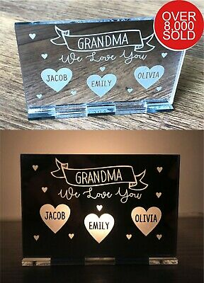 Personalised Fathers Day Gifts Her Nanny Mum Mummy Nana Gran Candle Holder Gifts