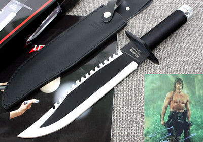 Rambo First Blood Boot Dagger Survival Fixed Bowie Camping Hunting Knife P1