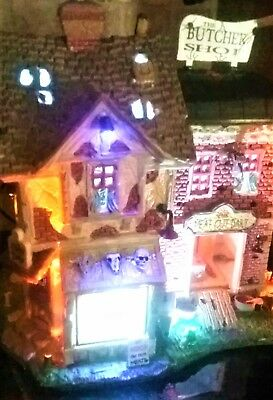 NEW Lemax Spooky Town THE BUTCHER SHOP 85663, Halloween
