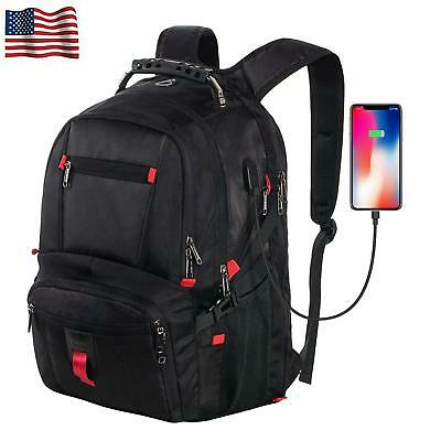 Waterproof Multifunctional Laptop Anti-Theft with USB Charging Port Backpack US