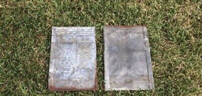 6 Antique Barn Roof Tile Tins Rustic Art