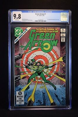 Green Arrow 1 CGC 9.8 White Pages - First Solo Green Arrow book!