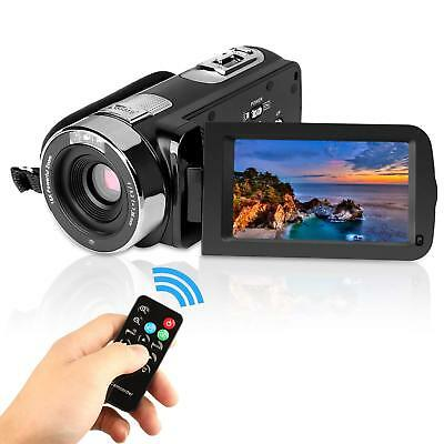 Video Camcorder HD 1080P LCD Screen Digital Camera face detection Remote Control