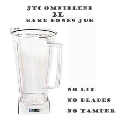 JTC OmniBlend BPA Free 2.0L Replacement Jug Shell No Attachments Or Accessories