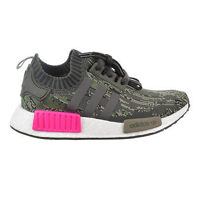 d207c0138 Adidas NMD R1 Primeknit Men s Big Kids  Shoes Utility Grey Shock Pink BZ0222