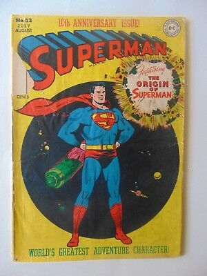 Superman #53 origin issue. 1948
