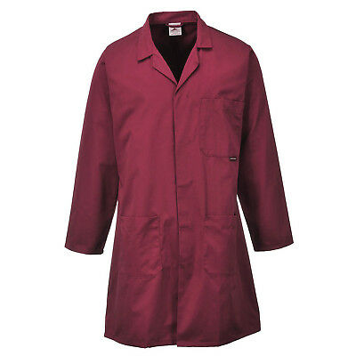 Maroon Lab Coat Hygiene Food Industry warehouse Laboratory Doctor Medical coat