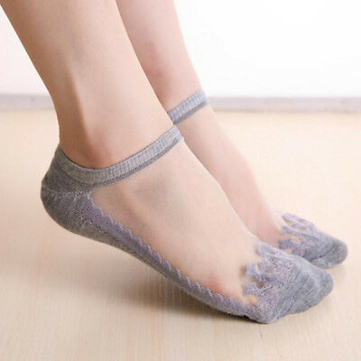 1/3 Pair Women Boat Non-Slip Invisible Low Cut No Show Socks Elastic Stockings