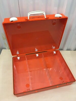 Orange Ambulance Paramedic Dressing Box Paramedic (clear protectors inside case)