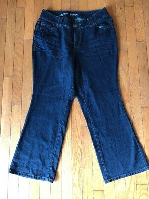 Lane Bryant Womens 14 Petite Blue Wash Distinctly Boot Cut Jeans Stretch Denim