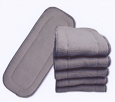 15X Insert Liner Reusable Bamboo Charcoal for Baby Modern Cloth Nappy 11x27cm