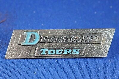 Commercial Lapel Pin or Tie Tack - Dittman Tours - Steel Pin