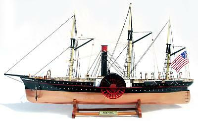 """SS Central America Ship Model 26"""" - HandCrafted Wooden Fully Assembled"""