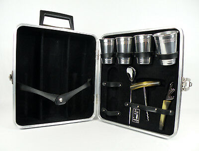 "Vintage ""THE PORTABLE PUB"" by Londonaire Hardcase Travel Bar Mad Men Cocktails"