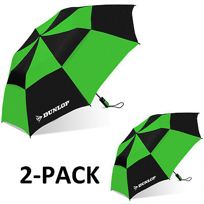 "Dunlop 56"" 2-PACK Double Canopy Folding 2-Person Umbrella"