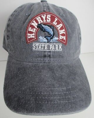 YELLOWSTONE HAT CAP National Park Wyoming Prefade USA Embroidery