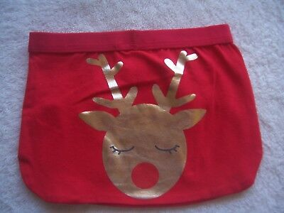 BNWT Baby Boy's/Girl's Unisex Christmas Reindeer Nappy Cover Size 00 & 0