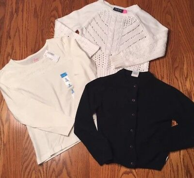 3 Pc Lot, Children's Place, Calvin Klein Jeans, Girls Sweaters, Shirt Size 5/6 S