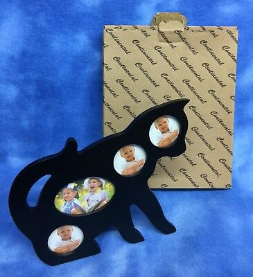 NIB Black Kitty Cat Picture Frame by Continental Creations