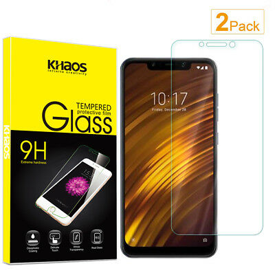 2-Pack Khaos For Xiaomi Pocophone F1 Tempered Glass Screen Protector