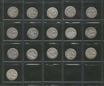 1916 To 1936 Threepence Complete Date Set - Inc Scarce Dates - 16 Coins