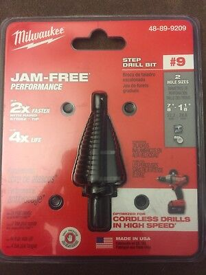 Milwaukee 48-89-9209 #9 Step Drill Bit, NEW! - E3219