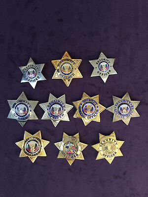 6 point 7 point security badge lot of 10