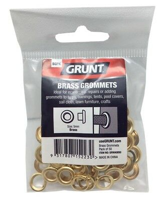 2x Grunt BRASS GROMMETS 50Pcs Webbing Accessory *Aust Brand- 5mm, 8mm Or 12mm