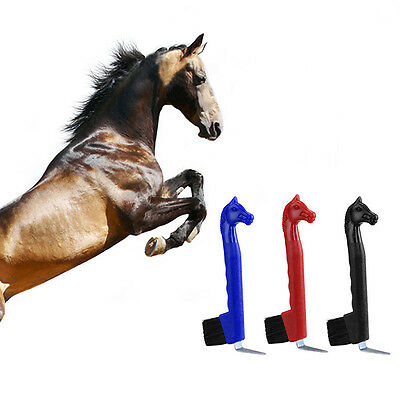 19 cm Hoof Pick-Horse Head With Brush Plastic Cow Sheep Horse Stable  New NEW