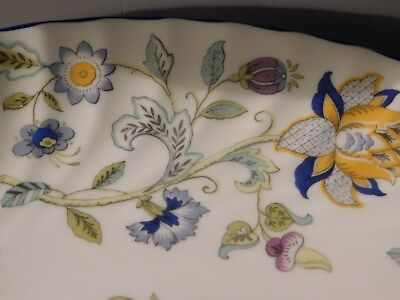 """Minton Haddon Hall Blue Vegtable Bowl 8 3/8"""" S782 Never Used Made In England"""