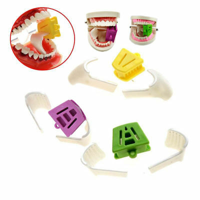 1 Set Dental Silicone Mouth Prop Latex Bite Block with Tongue Guard S/M/L Sizes