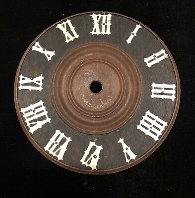 """Vintage Cuckoo Clock Wood Dial Face Lot#A Germany 4 3/8"""" Parts"""
