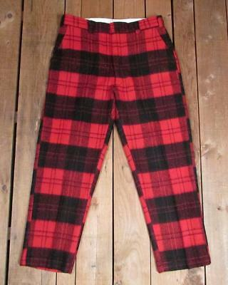 944f08d6d8b01 Vintage Duxbak Wool Hunting Pants/Trousers Aircel Buffalo Plaid 38 Cold  Weather