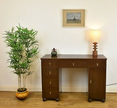 VINTAGE 1950s ANGLO CHINESE HARDWOOD DESK Art Deco style Table