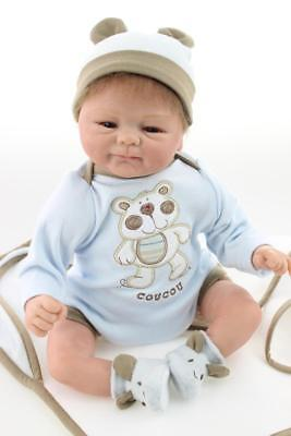 Vinyl Silicone Reborn Doll Real Life Like Looking 18inch Newborn Baby Dolls Gift