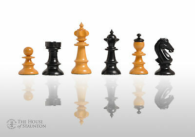 """CLEARANCE - The Austrian Coffeehouse Chess Set - Pieces Only - 4"""" King - Ebonize"""