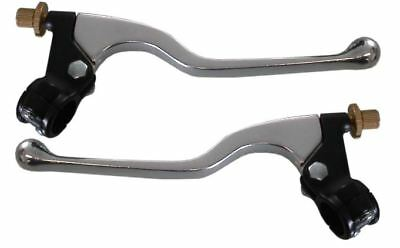 1 x Pair of Polished Cable levers & Clamps, No Mirror Boss