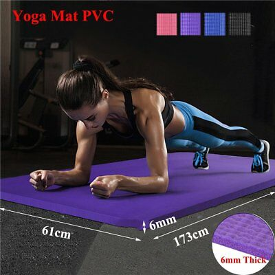 2018 Yoga Mat EXTRA 6mm THICK 173cm x 61cm Non Slip Exercise/Gym/Picnic/Camping