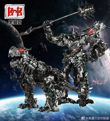NEW Black Mamba Transformers LS05 alloy enlarged version dinosaur Steel cable