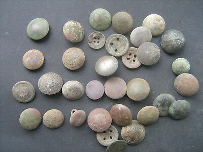Ancient Old buttons. Metal Detector finds